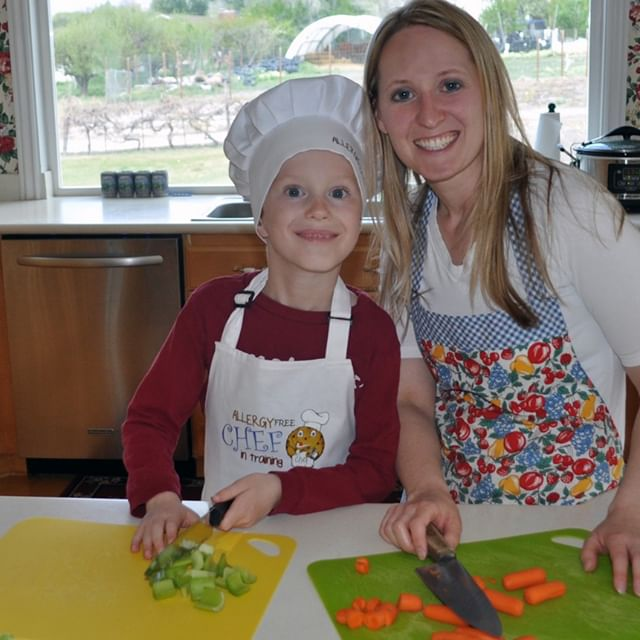 Chef Free Founder, Tiffany Rogers, cooks an allergy friendly meal with her son.