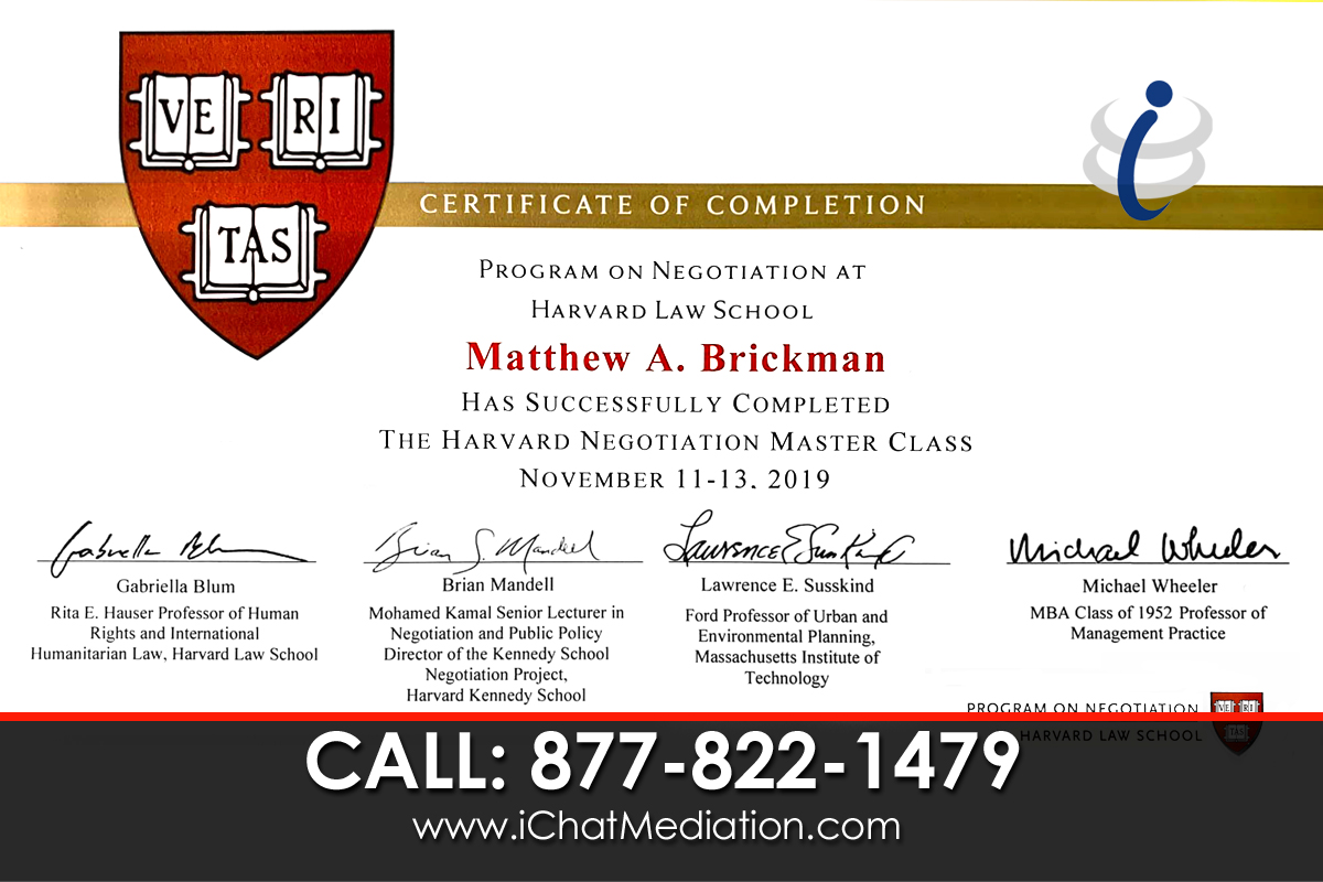 Harvard Law School - Matthew Brickman Graduate=