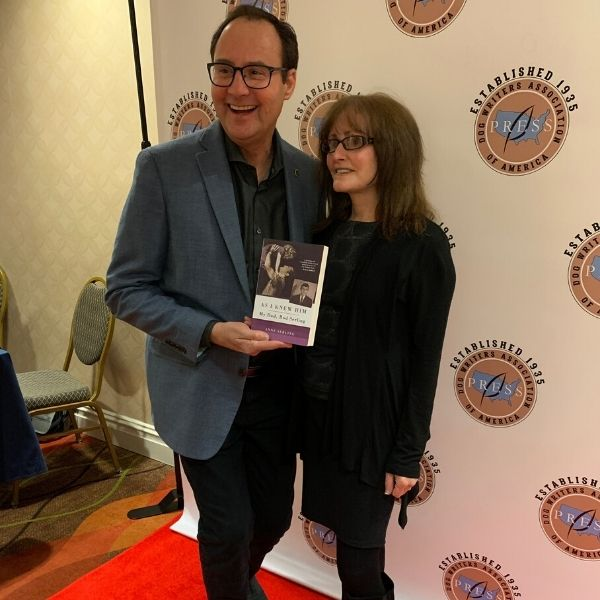 Writer Larry Kay With Author Anne Serling